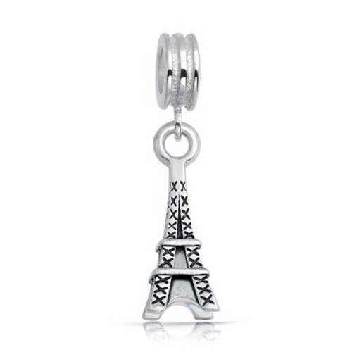 UPC 640626676564, Bling Jewelry Antique Styled Sterling Silver Eiffel Tower Dangle Charm Bead