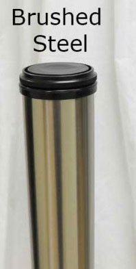34-1/2 Inch Tall Metal Counter Height Table Leg in a Durable Brushed Steel Finish (Single Leg)