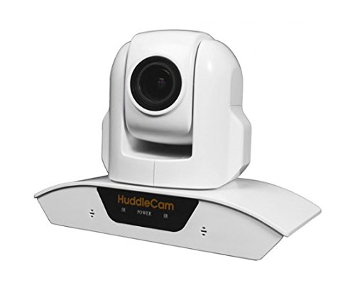 HuddleCamHD 3X USB 2.0 1080p PTZ Conferencing Camera with Built-In Microphone Array - White by HuddleCamHD