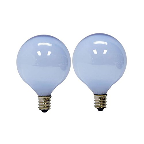 GE Lighting 48705 40-Watt Reveal Candelabra Frosted Globe G16.5, 2-Pack - 40w Reveal Candelabra