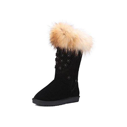 Super caldo stivali da neve in pelle da donna , 37