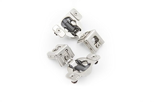 "Comet Pro Hardware E85 1-1/4"" Cabinet Hinges Full Overlay Soft Close Nickel Plated Steel, Screws are Included (10 Pack)"