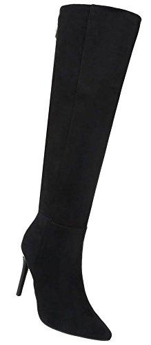 Damen Warm Modell Schwarz Boots 2 Schuhe Gefütterte Nr Stiefel qEfEr7
