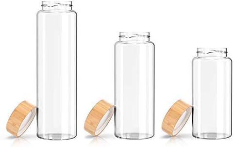 Kablo Glass Water Bottle 32 or 21 oz 100/% Borosilicate Glass BPA Free