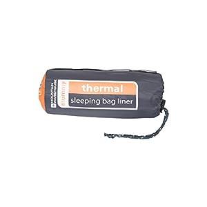 Mountain Warehouse Thermal Mummy Sleeping Bag Liner -Camping Sheet Black