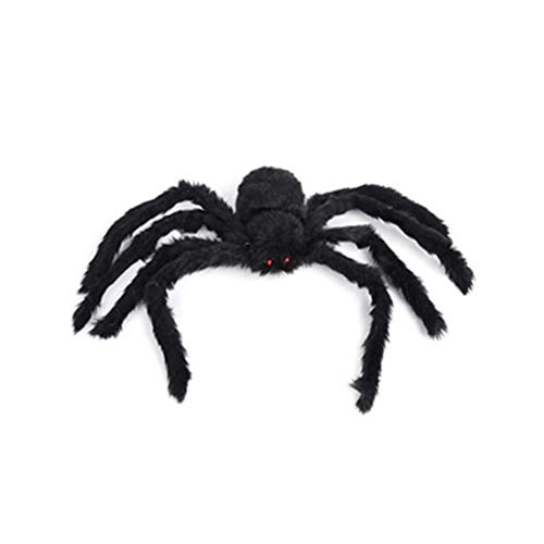 Fake Giant Spider Outdoor Halloween Spider Large for Haunted House Outdoor Party Decor Supplies Yard ()