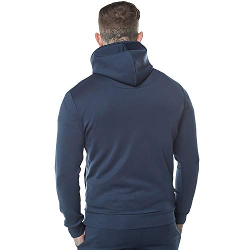 hombre Sudadera 11 azul capucha grados con q5zwzI4