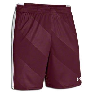 Under Armour Fixture Short,Maroon/Wht,Youth Small by Under Armour