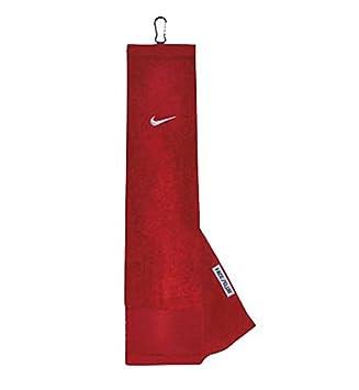 Nike 63521202 Cara Club Tri-Fold Toalla de Golf, Color Blanco y Rojo: Amazon.es: Deportes y aire libre