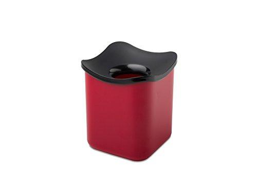 Rosti Mepal 108552075900Cube Tischabfalleimer Melamin rot 12x 12x 13,6cm