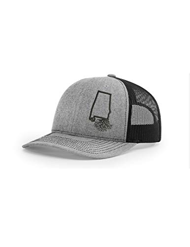 (Wear Your Roots Snapback Trucker Hat (One Size - Adjustable, Alabama Heather/Black Mesh))