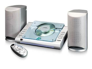 Coby CX-CD375 Micro Stereo System with Top-Loading CD Player (Discontinued by Manufacturer) by Coby