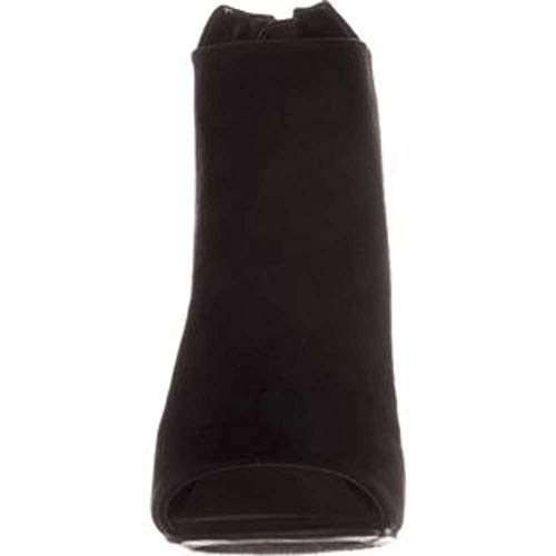 Black Open Boots Ankle Bar Fabric Fashion Womens Adalyn III Toe OwIqBpAxz