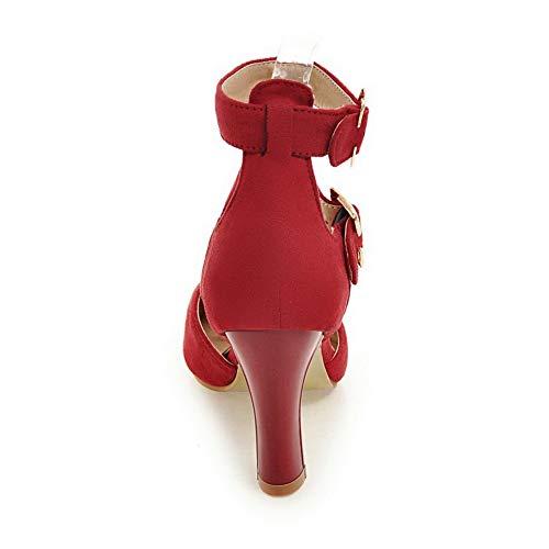 36 Red EU Rouge Sandales 1TO9 Compensées 5 Femme MJS03542 OYqpnwT6