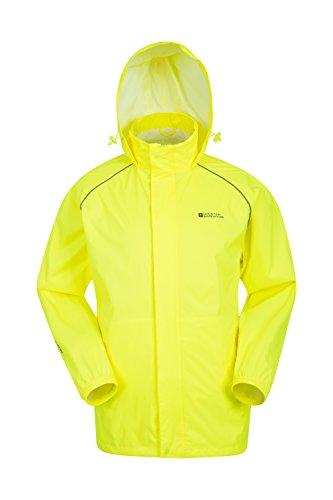 Mountain Warehouse Pakka Mens Packable Jacket -Waterproof Summer Coat Yellow Medium