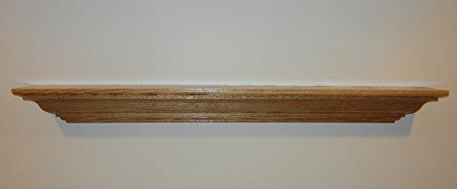 Classic Unfinished Oak or Poplar U Pick Size Solid Wood Shelf Fireplace Mantel Mantle (Poplar Mantel)