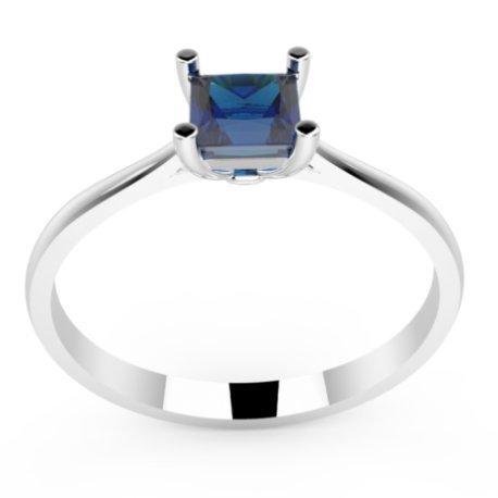 HARMONY Bagues Platine Saphir Bleu 0,6 Princesse