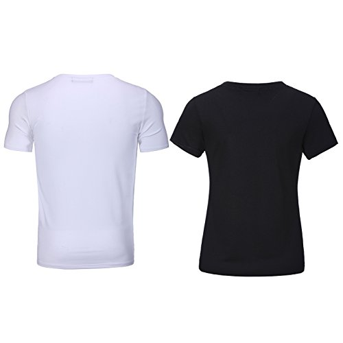 Bangerdei The Boss and The Real Boss Couples T-Shirts Anniversary Newlywed Matching Set Tops Valentines Gifts Black Women L + White Men XL by Bangerdei (Image #1)