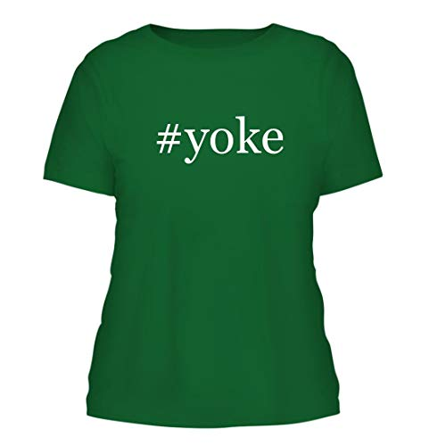 - #Yoke - A Nice Hashtag Misses Cut Women's Short Sleeve T-Shirt, Green, Large