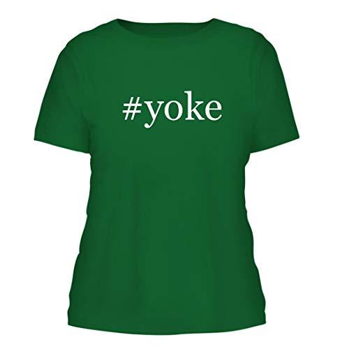 - #Yoke - A Nice Hashtag Misses Cut Women's Short Sleeve T-Shirt, Green, Large
