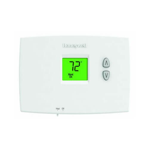 Honeywell TH1100DH1004 Horizontal PRO 1000 Non-Programmable Thermostat Heat Only Dual Powered ()