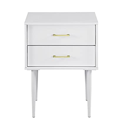 Charmant 20u0026quot; Olivia Two Drawer Side Table   White
