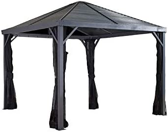 Sojag 500-8162813 Sanibel Sun shelter, 10 x 10 , Dark Grey