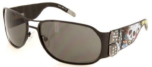 Ed Hardy EHS 037 Sunglasses, Black