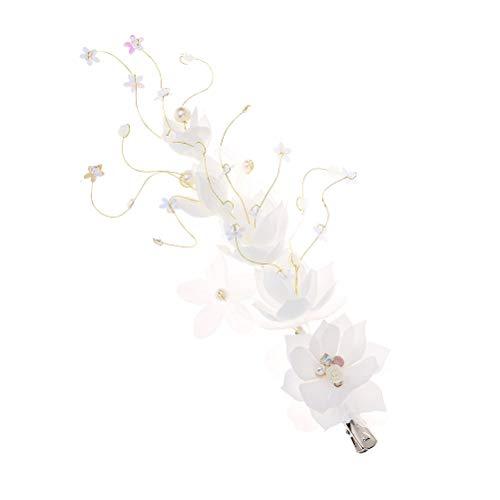 Joyería Nupcial de la Horquilla del Clip del Lado del Clip del Pelo de la Flor del Baile de Fin de Curso de Las señoras