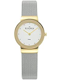 Women's White Label Analog-Quartz Watch with Stainless-Steel Strap, Silver, 13.8 (Model: 358SGSCD)