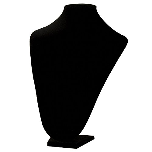 Black Velvet Jewelry Neck Display Bust 13