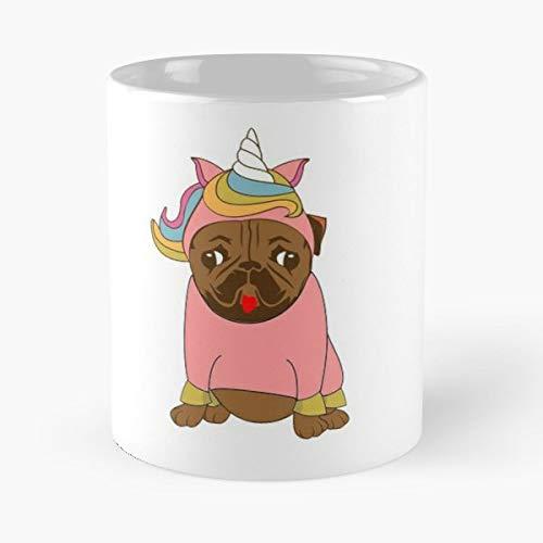 Dog Pug Unicorn Costume - Best Gift Coffee Mugs 11 Oz Father Day]()