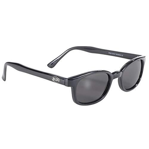 X-KDs Unisex-Adult Biker sunglasses (Black/Smoke, One Size)