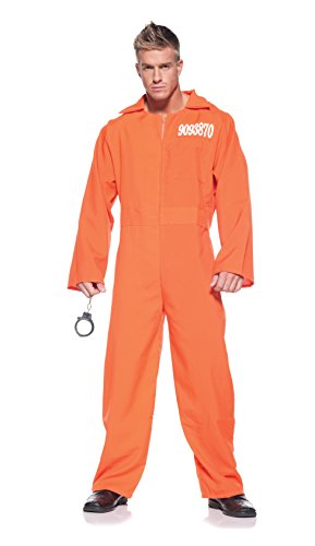 Men's Prisoner Costume - Prison Jumpsuit ()