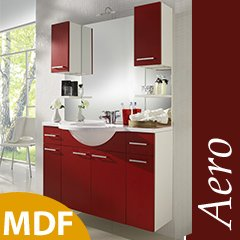 Badezimmer Aero Waschplatz Inkl Spiegel Rot Weiss 5652 Amazon De