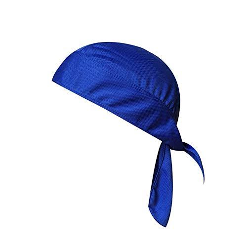 Aoile Sweat Wicking Beanie Cap Skull Cap Anti Pollution Head Scarf Bandana Adjustable Cycling Hat for Women Men Sapphire