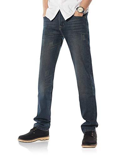 Moda Jeans A Serie Casual Blau 806 Uomo Dritto Vintage Taglio Pantaloni R Denim Da Giovane SxnPta