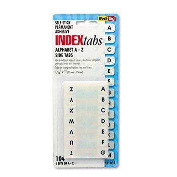 Redi-Tag ® Fácil instalación lateral adhesivo plástico pestañas ...