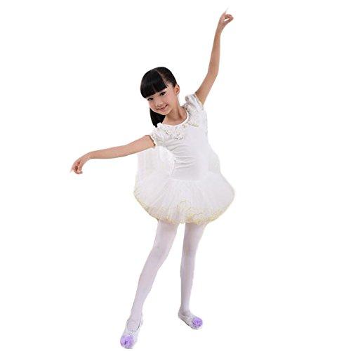 White Swan Ballet Costume (White Swan Lake Costumes/kid Ballet Dress/Soft Sling Ballet Skirt)