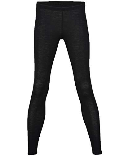 (Engel 70% Organic Merino Wool 30% Silk Women's Leggings. Made in Germany. (Black, EU 38/40))