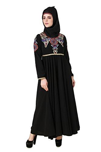 MyBatua negro musulmanes tradicionales islámico eid burka maxi abaya AY-491