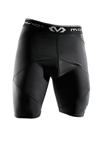McDavid Super Cross Compression Shorts with Hip Spica, Large, Black