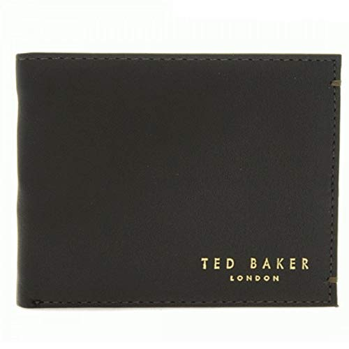 Ted Baker Harvys Mens Leather Bifold Wallet with coin Pocket (Brown)