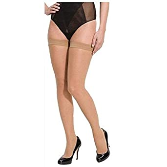 1d7978980 Ramanta Women Nurse School or Uniform Beige Thigh High Stocking Tights  (Free Size