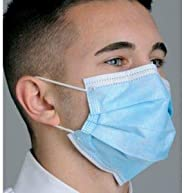 Blue Pleated Anti-Fog Dual Fit Tie-on Face Mask - Diffuser 50/Box