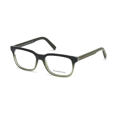 Zegna EZ5022-095 Optics Mens Eyeglasses Dark Olive Frames by Zegna