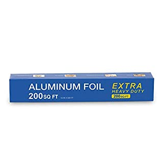 Super Extra Heavy Duty Aluminum Foil with 30% Thicker Than Regular Heavy Duty Aluminum Foil - 200 Squre Feet (15 Inches x 160 Feet)