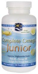 Nordic Naturals complète de pétrole Omega poisson Junior, 180 gels mous, (citron Goût)