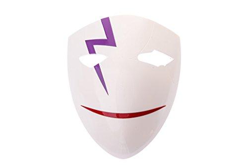 Darker Than Black Costume Mask (Mtxc DARKER THAN BLACK Cosplay Hei Li Shenshun Rift Mask 2nd White)