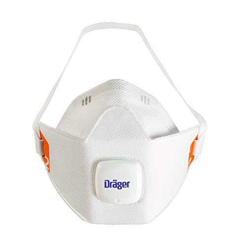 For Dräger 1920 5 Dust Protection Particulate Respiratory Valve Masks X-plore® Size S Construction V With Ffp2 Exhalation Work Disposable